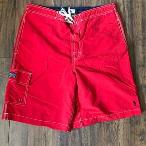 Polo Ralph Lauren Red Kailua Swim Trunks